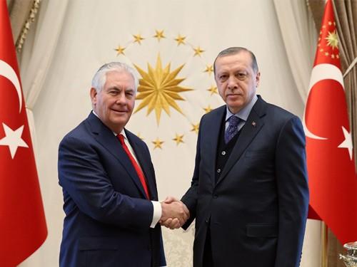 أردوغان يستقبل وزير الخارجية الأمريكي في إسطنبول