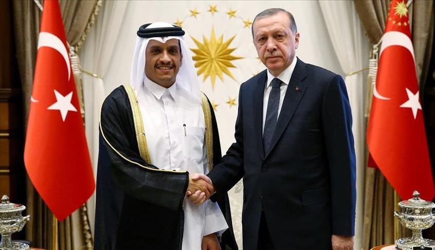 أردوغان يستقبل وزير خارجية قطر