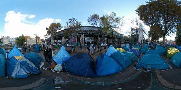 إخلاء نحو 1500 شخص من مخيم للاجئين في باريس