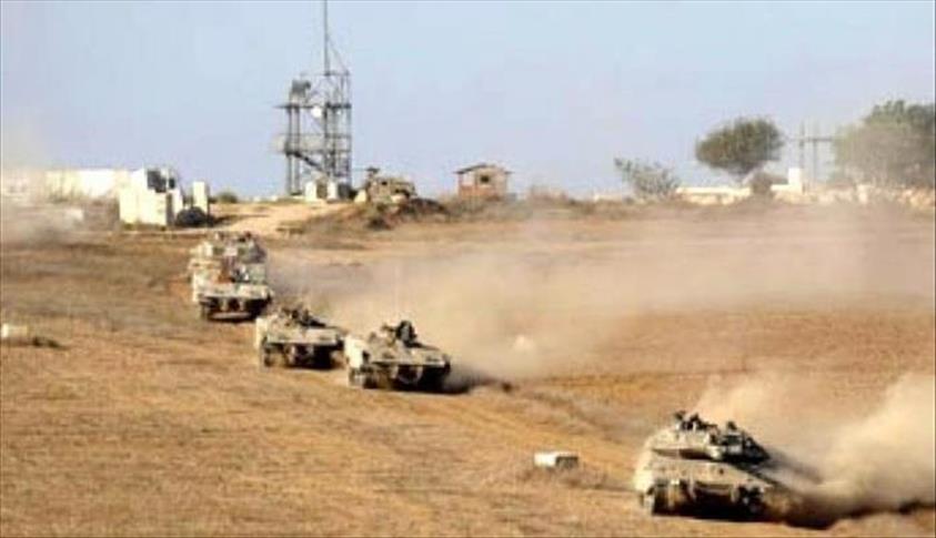إسرائيل تنشر قوات كبيرة ودبابات على حدود غزة