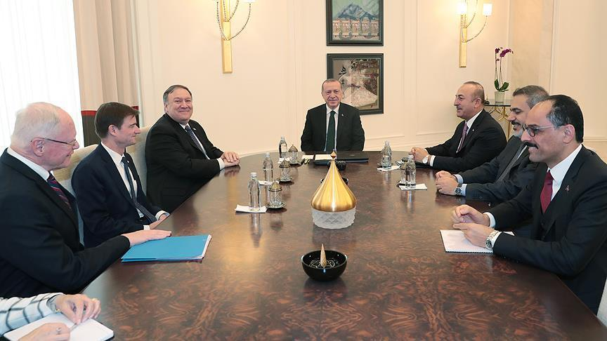 إنتهاء لقاء الرئيس أردوغان بوزير الخارجية الأمريكي