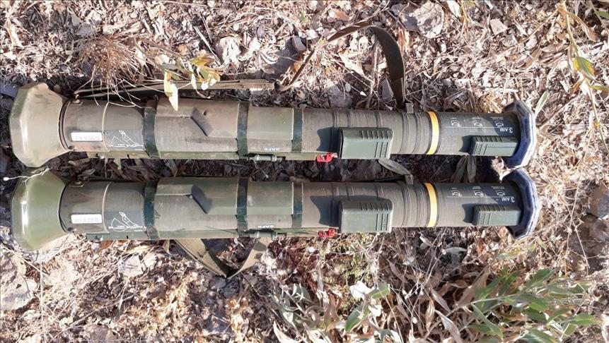 """الجيش التركي يضبط قاذفتي صواريخ سويدية بحوزة إرهابيي """" بي كا كا"""""""