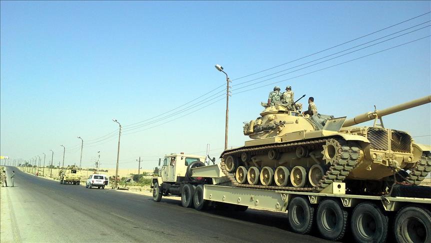 """الجيش المصري يعلن مقتل 12 """"مسلحا"""" وتدمير 60 هدفا بسيناء"""