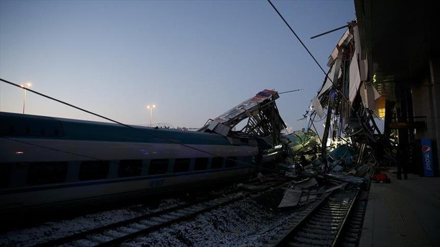 السلطات التركية توقف 3 على خلفية حادث القطار السريع في أنقرة