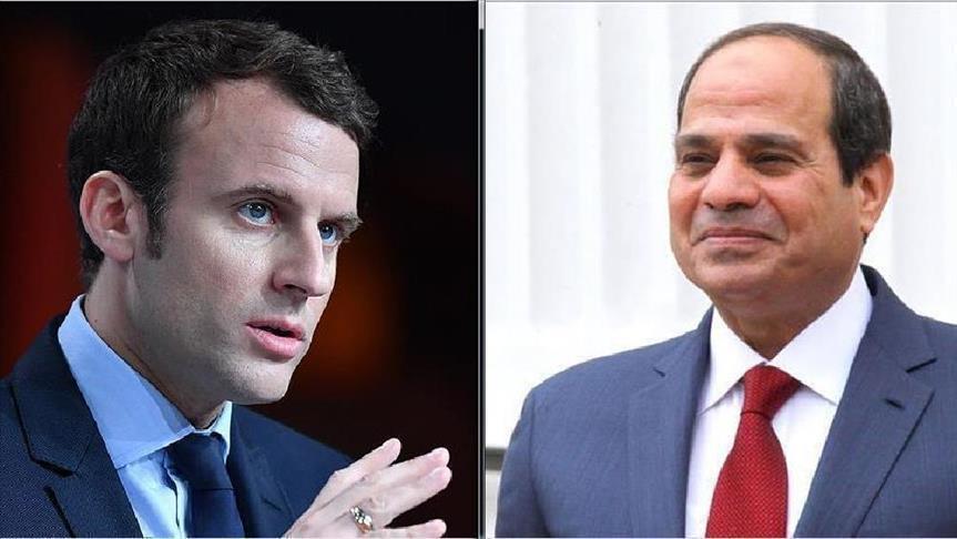 السيسي وماكرون يبحثان هاتفيا مستجدات أزمتي سوريا وليبيا