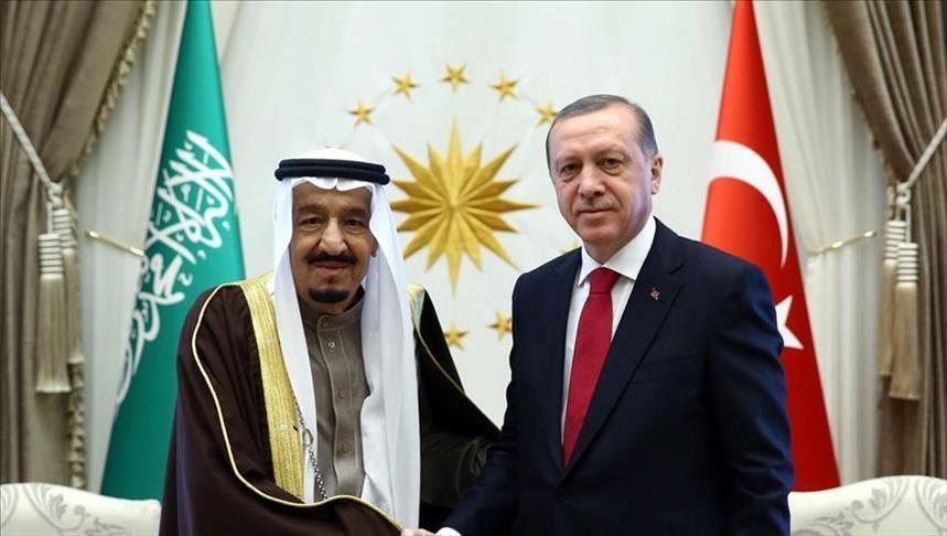 العاهل السعودي وولي العهد يهنئان الرئيس أردوغان بـ