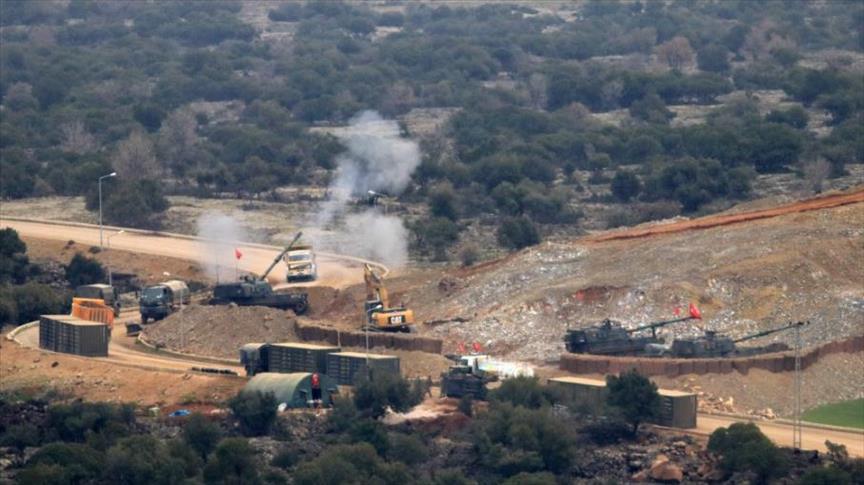 القوات التركية تقصف مواقع عسكرية للتنظيمات الإرهابية بعفرين