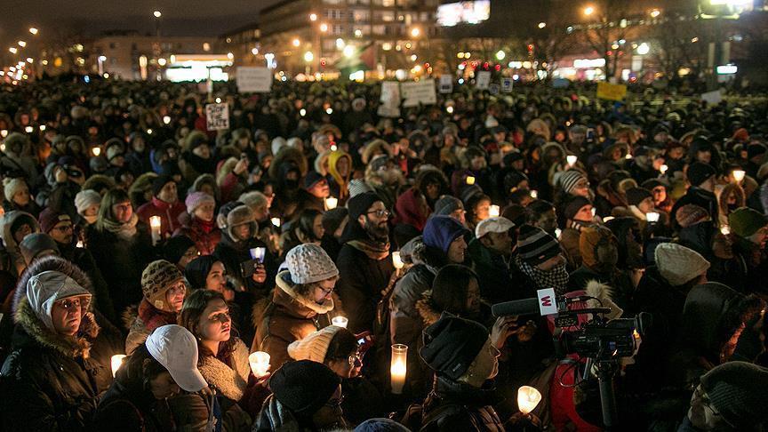 الكنديون يقيمون قداساً لتكريم ضحايا هجوم مسجد كيبيك
