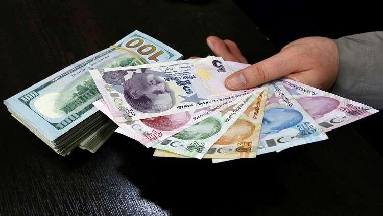 الليرة التركية تواصل الإنخفاض أمام الدولار  بعد إعلان الحكومة الجديدة