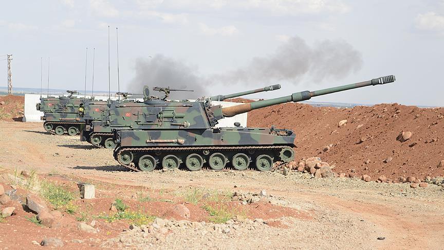 المدفعية التركية تواصل قصف مواقع