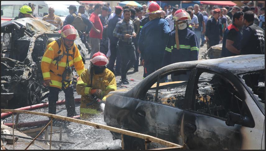 انفجار سيارة مفخخة داخل سوق شعبي غربي العراق
