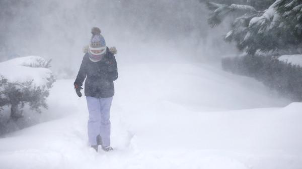 بسبب الثلوج عطلت المدارس في إسطنبول