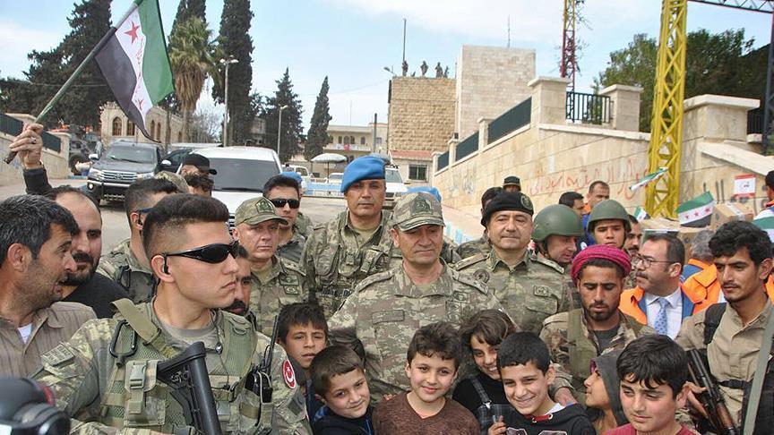 بعد تحريرها.. قائد الجيش الثاني التركي يزور مدينة عفرين