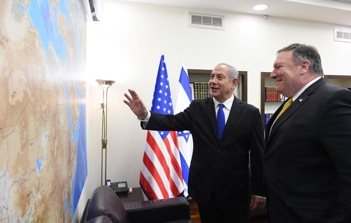 بومبيو من عمان: ندعم حل الدولتين بين الفلسطينيين والإسرائيليين
