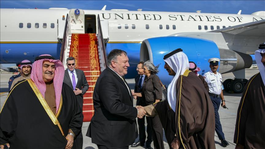بومبيو يصل البحرين في رابع محطات جولة شرق أوسطية