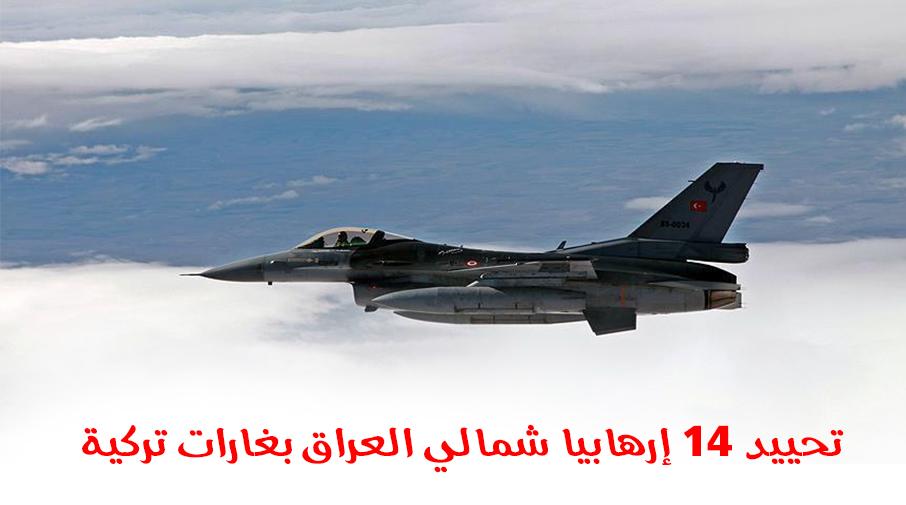 تحييد 14 إرهابيا شمالي العراق بغارات تركية