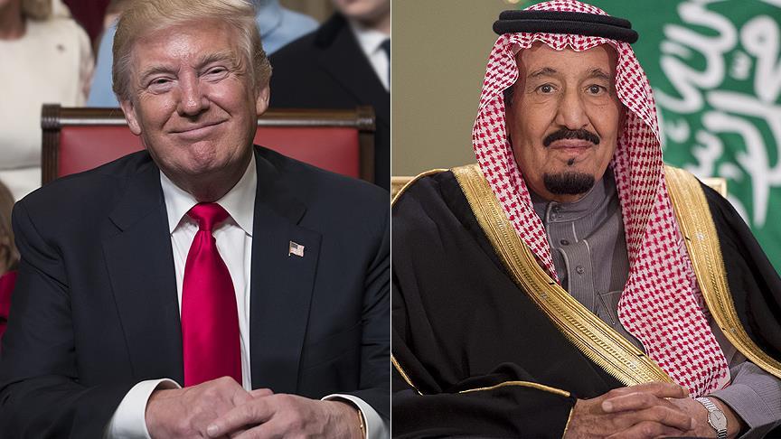 ترامب والملك سلمان يبحثان أوضاع المنطقة والتعاون الأمني والعسكري