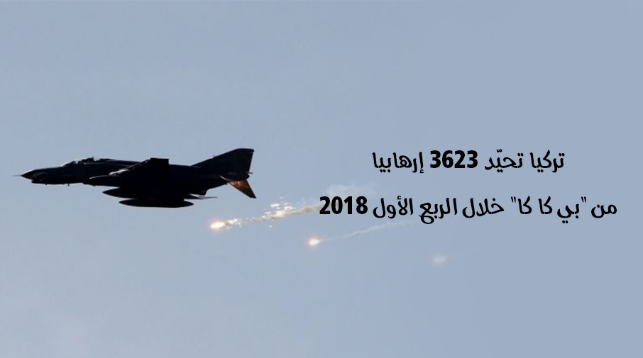 """تركيا تحيّد 3623 إرهابيا من """"بي كا كا"""" خلال الربع الأول 2018"""
