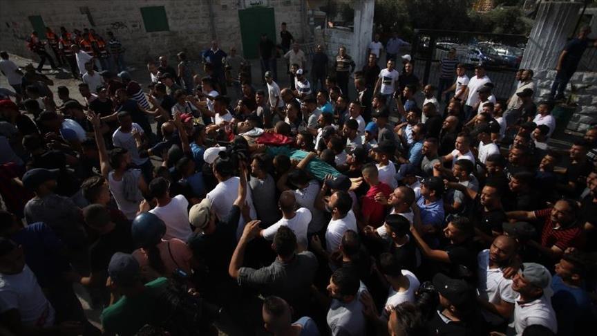 تشييع جثمان فلسطيني قتله الجيش الإسرائيلي قبل نحو شهر
