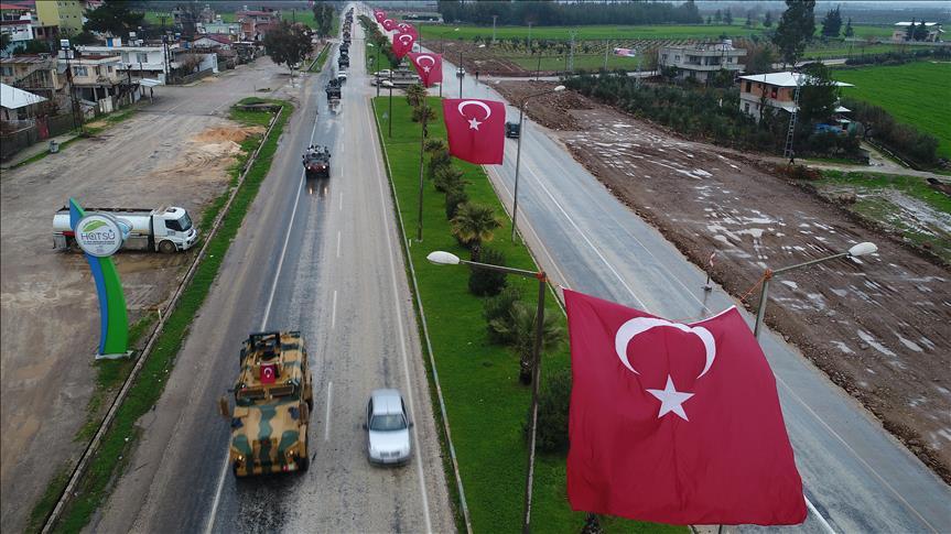 """تعزيزات عسكرية تركية في طريقها إلى """"عفرين"""" السورية"""