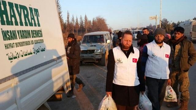 جمعية تركية ترسل 3 شاحنات محملة بالمساعدات لنازحي حلب