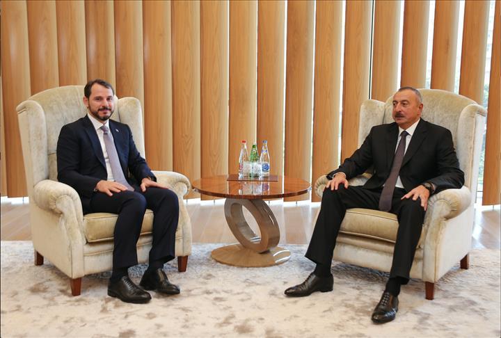 رئيس أذربيجان يلتقي وزير الطاقة التركي في باكو