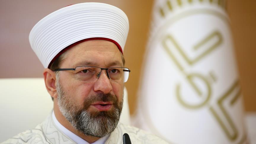 رئيس الشؤون الدينية التركية: أطفالنا يولدون على حب فلسطين