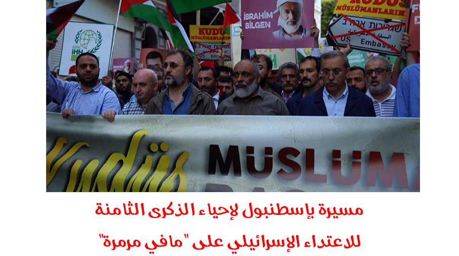"""مسيرة بإسطنبول لإحياء الذكرى الثامنة للاعتداء الإسرائيلي على """"مافي مرمرة"""""""