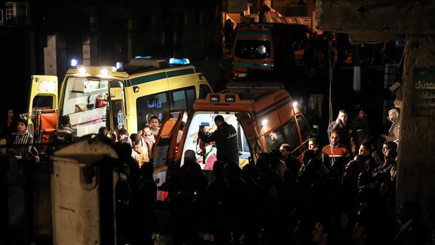 مصرع مواطن وإصابة 2 في انهيار جزئي لعقار شمالي مصر