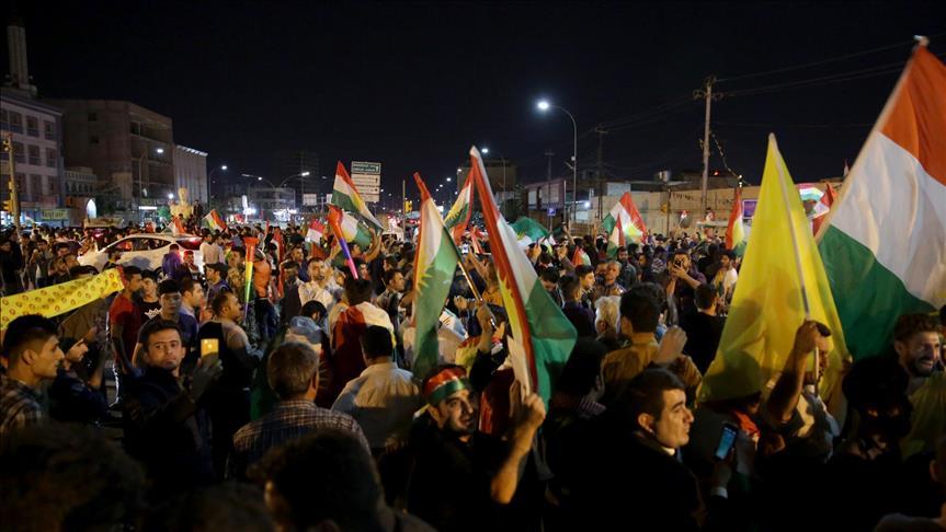 مظاهرة بأربيل بعد مزاعم حول تحرك القوات العراقية صوب المدينة