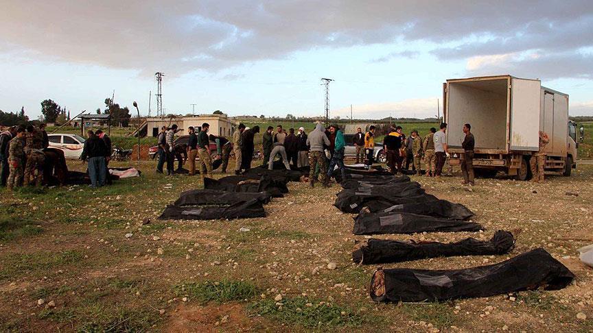 مقبرة جماعية بعفرين لمعارضين مثّل بجثثهم (ب ي د) الإرهابي