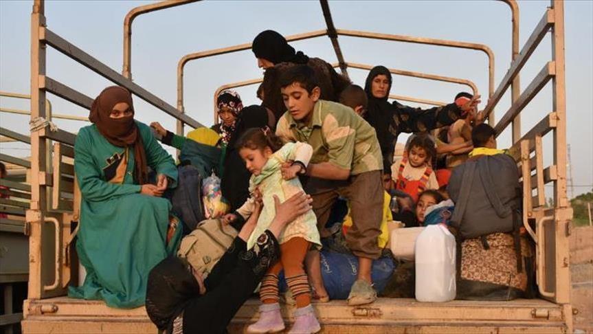 نزوح جماعي من مناطق شمال الموصل
