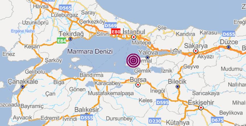 هزة أرضية بقوة 4.1 درجة تضرب ولاية يالوفا التركية