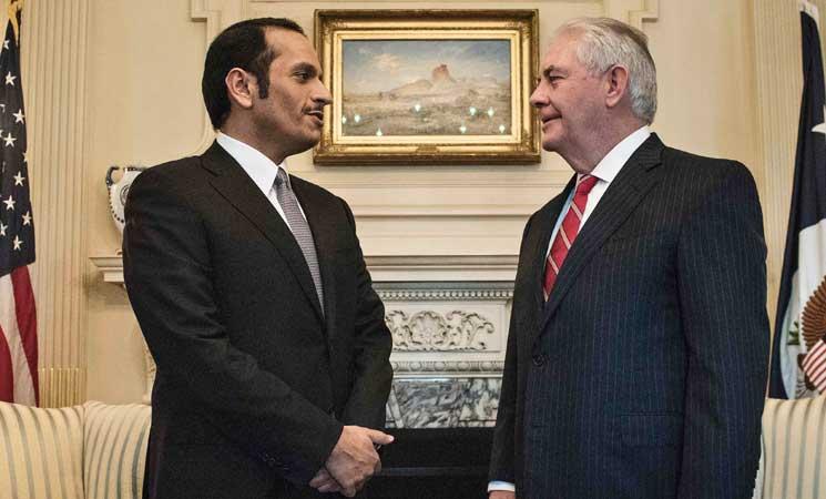 وزيرا خارجية أمريكا وقطر يبحثان مكافحة الإرهاب وقضايا إقليمية