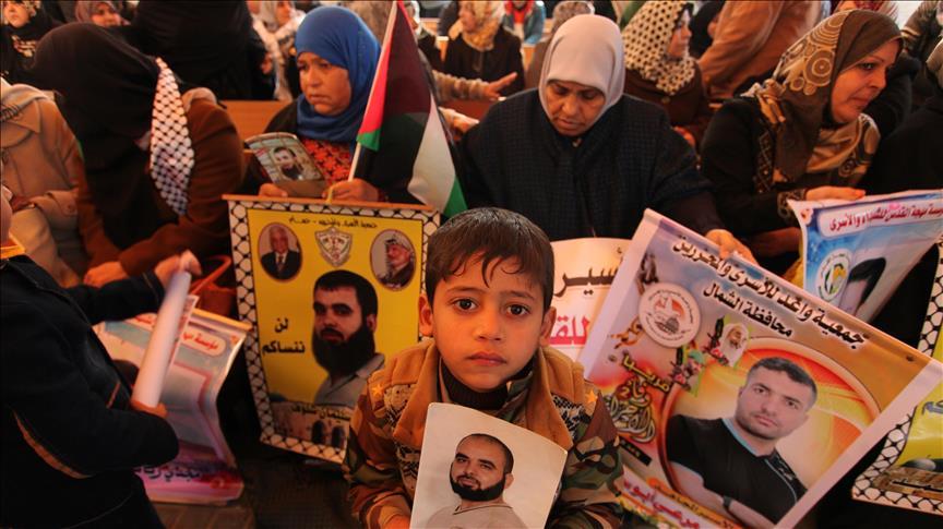 وقفة في غزة تضامناً مع المعتقلين في السجون الإسرائيلية