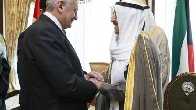 يلدريم يستقبل أمير الكويت في أنقرة