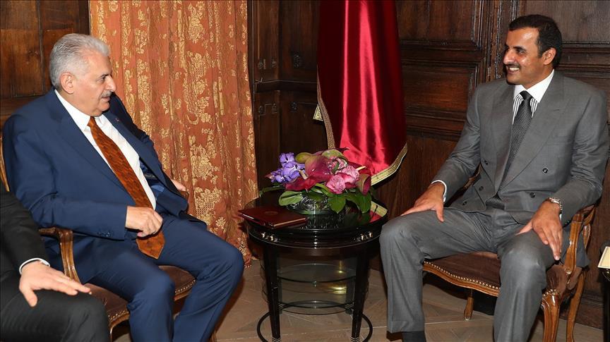 يلدريم يلتقي أمير قطر في ميونخ