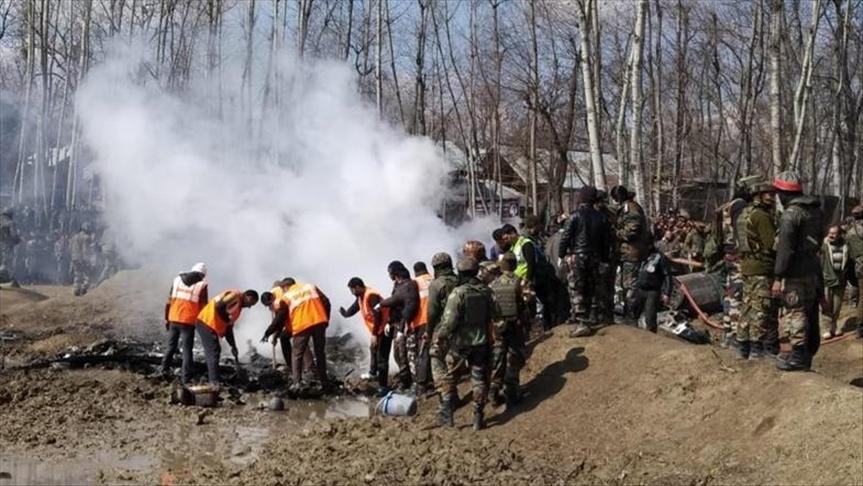7 قتلى في إسقاط طائرة هندية في كشمير